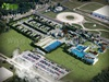 Aerial View Site Plan 3D architectural rendering